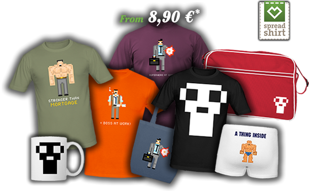 Pixel World Spreadshirt products